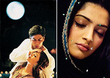 Collage of Devdas and Saawariya