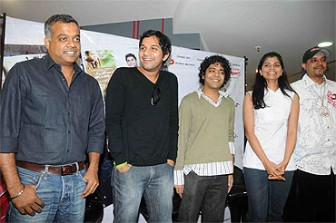 Gowtham Menon, Karthik, Naresh Iyer, Chinmayi and Blaaze at the album launch