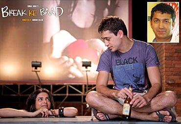 A scene from Break Ke Baad, and an inset of Kunal Kohli