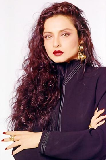 he iconic woman of mystery, rekha
