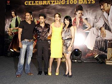 Ajay Devgn, Emraan Hashmi, Kangna Ranaut and Prachi Desai