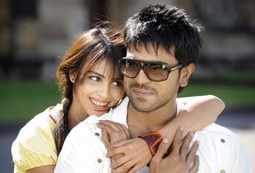 Genelia D Souza and Ram Charan Tej