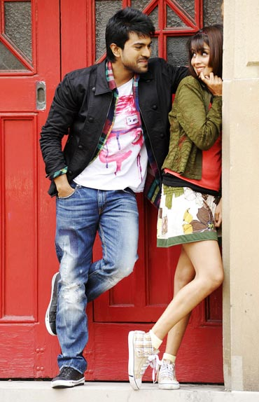 Ram Charan Tej and Genelia D Souza in Orange