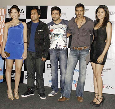 Shazahn Padamsee, Omi Vaidya, Emraan Hashmi, Ajay Devgn and Shraddha Das