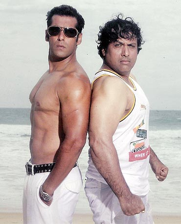 Salman and Govinda in Partner