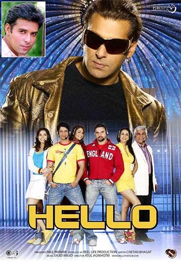 A poster of Hello. Inset: Atul Agnihotri