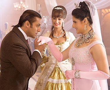 Salman and Zarine Khan in Yuvvraaj