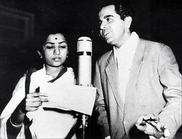 Lata Mangeshkar and Dilip Kumar