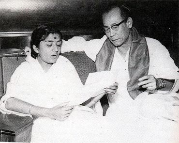 Lata Mangeshkar and S D Burman