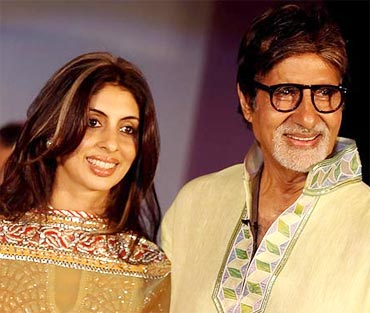 Shweta and Amitabh Bachchan