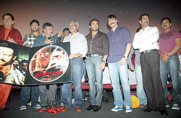 The cast and crew at the audio release