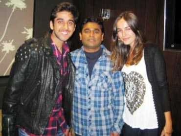 Vinay Virmani, A R Rahman and Camilla Belle