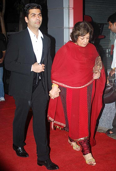 Karan Johar and Hiroo Johar