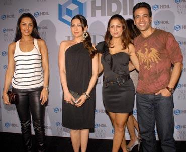 Malaika Arora Khan, Karisma Kapoor, Amrita Arora and Tusshar Kapoor