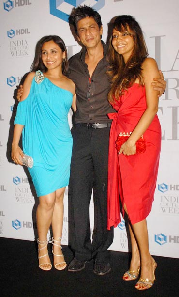 Rani Mukerji, Shah Rukh Khan and Gauri