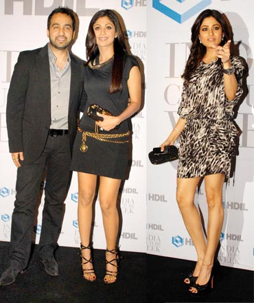 Raj Kundra, Shilpa and Shamita Shetty