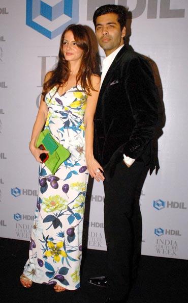 Sussanne Roshan and Karan Johar
