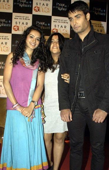 Sukirti Khandpal, Ekta Kapoor and Vivian Dsena