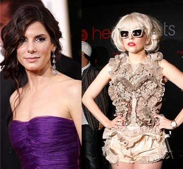 Sandra Bullock and Lady Gaga
