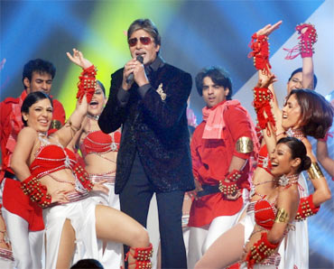 Amitabh Bachchan on the sets of KBC