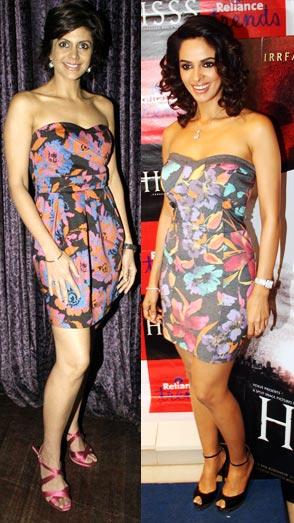 Mandira Bedi and Mallika Sherawat