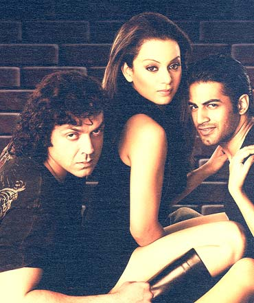 Bobby Deol, Kangna and Upen Patel