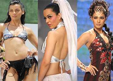Mugdha Godse, Kangna and Priyanka Chopra
