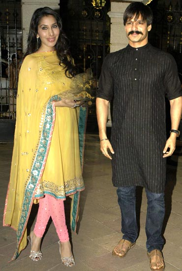 Sophie Choudry and Vivek Oberoi