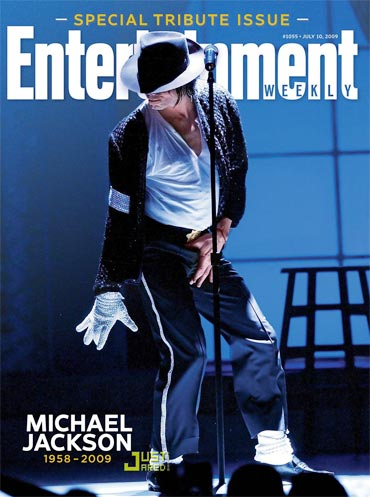 Michael Jackson on the cover of Entertainment Weekly