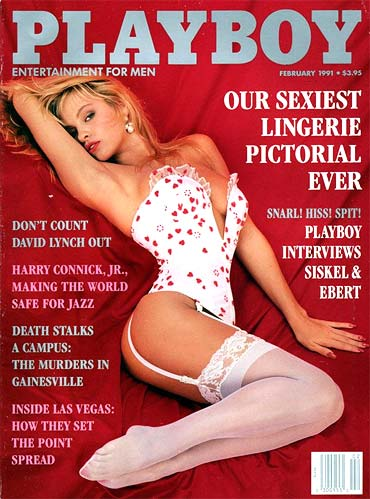 Pamela Anderson on the February 1991 cover of Playboy