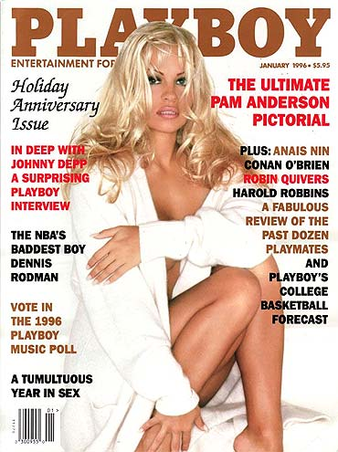 Pamela Anderson on the January 1996 cover of Playboy