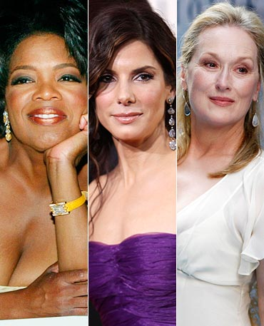 Oprah Winfrey, Sandra Bullock and Meryl Streep