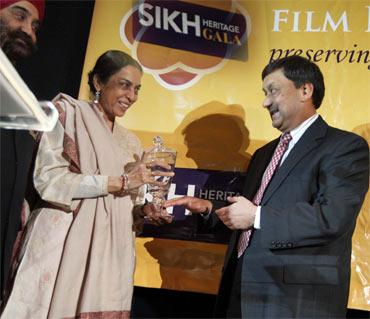 Aparna kaur being honored