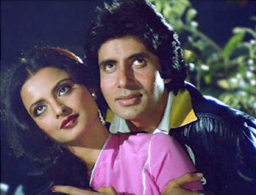 Amitabh Bachchan and Rekha in Silsila