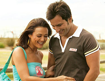 Saif Ali Khan and Preity Zinta in Salaam Namaste