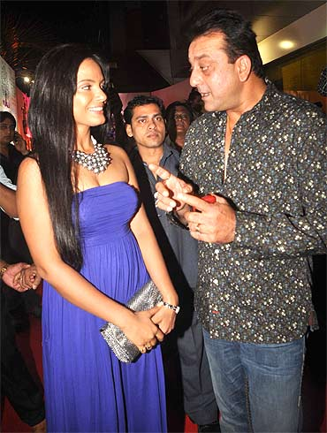 Neetu Chandra and Sanjay Dutt