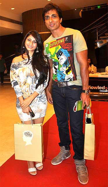 Tanisha Mukherjee and Sonu Sood