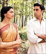 Deepika Padukone and Abhishek Bachchan in KHJJS
