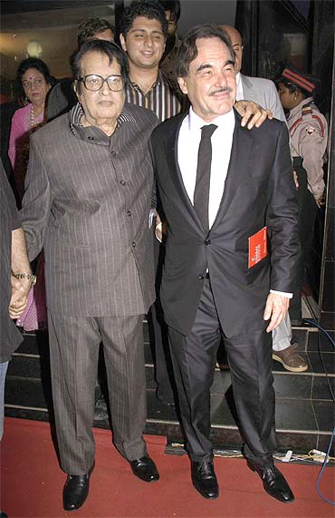 Manoj Kumar and Oliver Stone