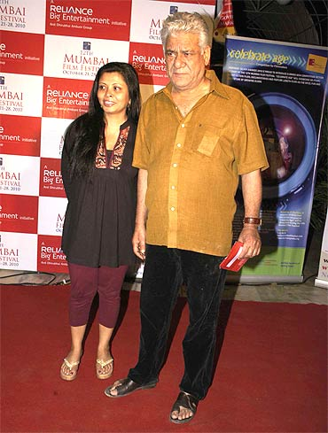 Nandita and Om Puri
