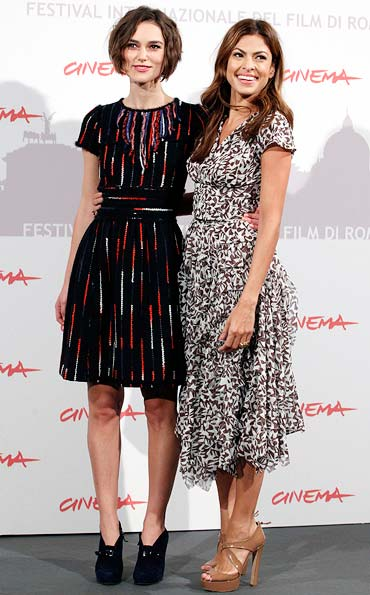 Keira Knightley and Eva Mendes