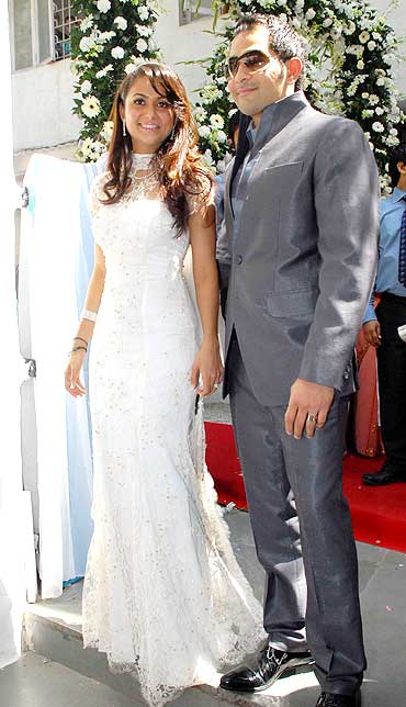 Amrita Arora and Shakeel Ladakh