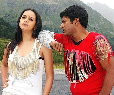 Bhavana and Puneet in Jackie