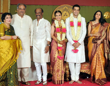 Boney Kapoor and wife Sridevi pose for a picture with the family