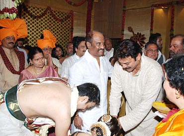 Venkatesh blesses the couple
