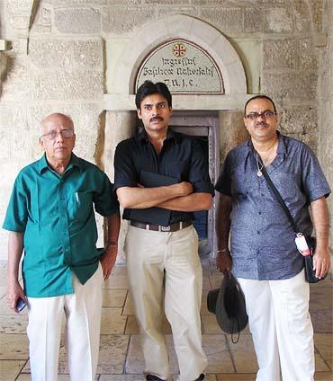 Singeetham Srinivasa Rao, Pawan Kalyan and Konda Krishnam Raju