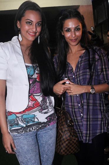 Sonakshi Sinha and Malaika Arora Khan