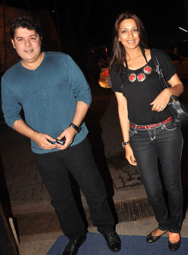 Sajid Khan and Sonali Bendre