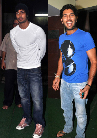 Prateik Babbar and Yuvraj Singh