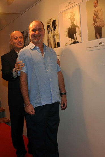 Anupam Kher and his brother Raju Kher